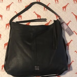 Kooba Black Genuine Leather Hobo Purse NWT